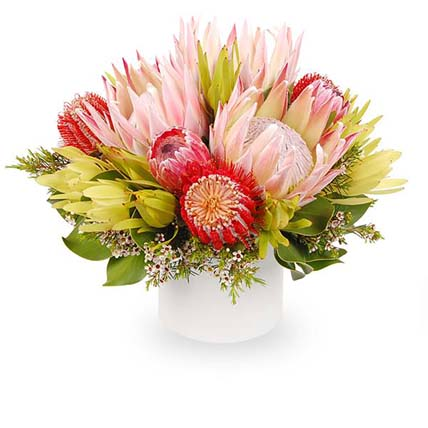 Stunning Mixed Flowers In Ceramic Pot: Send Gifts to Australia