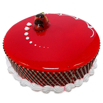 1Kg Strawberry Carnival Cake: