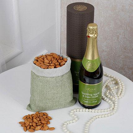 Almonds N Juice Combo: Gift Hampers