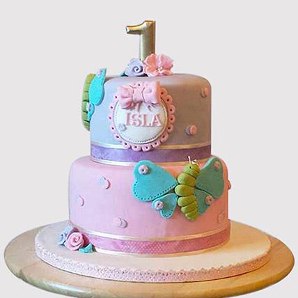 Beautiful 2 Tier Butterfly Cake: Butterfly Cakes