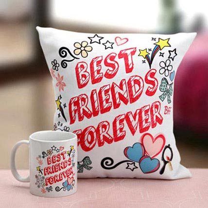 Best Friends Mug N Cushion: Friendship Day Cushions