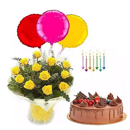 Birthday Surprise Collection 2: Flowers with Cakes in Sharjah