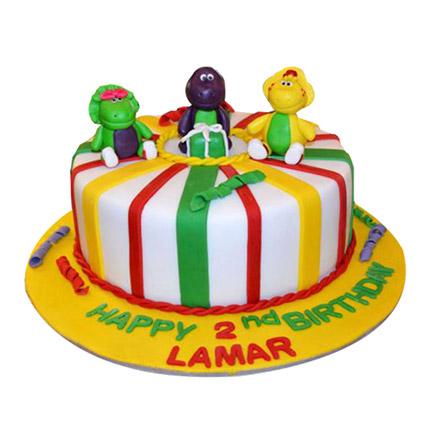 Cheerful Dino Cake: Dinosaur Cakes