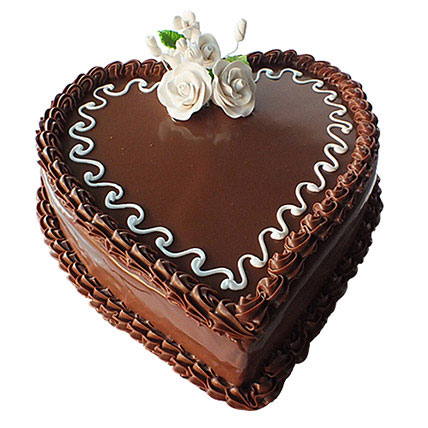 Choco Heart Cake: Valentine Cakes to Sharjah