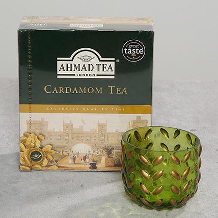 Decorative Glass and Tea Light Combo: Christmas Gifts