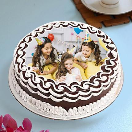 Delightful Birthday Photo Cake: Photo Cakes