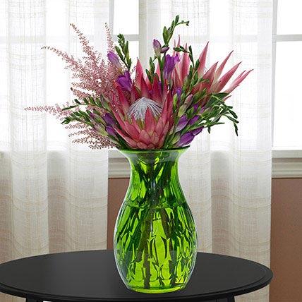 Enchanting Flower Vase: Exotic Flowers