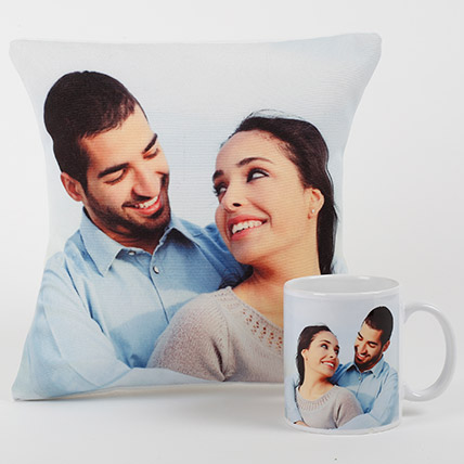 Eternal Love Personalized Combo: Personalised Cushions