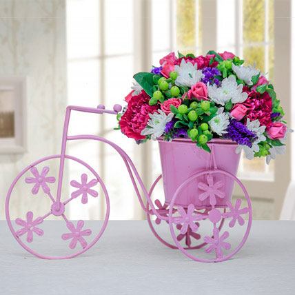 Floral Pink Cycle: Exotic Flowers