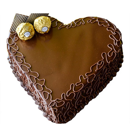 Heart Choco Cake: Valentine Cakes to Sharjah