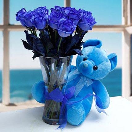 Joyful Corsage: Propose Day Flowers & Teddy Bears