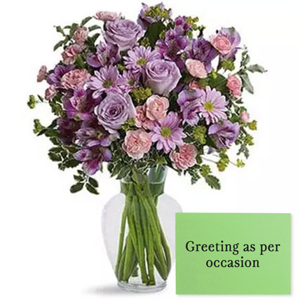 Ornamental Flowers With Greeting Card: Propose Day Flowers & Greeting Cards