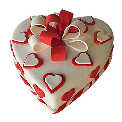 Red Ribbon Cake: Valentine Cakes to Sharjah