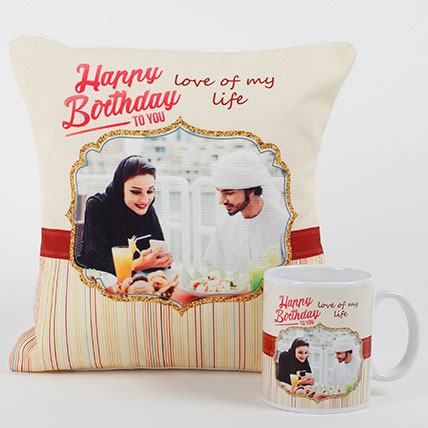 Romantic Personalized Mug N Cushion: Personalised Gifts to Al Ain