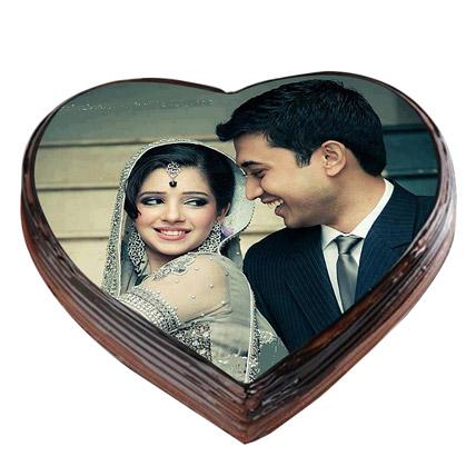 Romantic Photo Cake: Heart Shaped Cakes