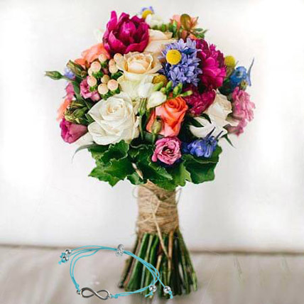 Mix Flowers with Friendship Band: Friendship Bands