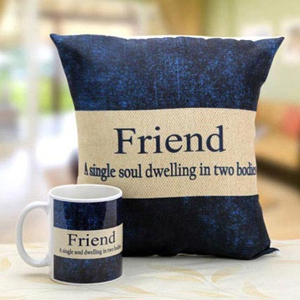 Mug N Cushion for Best Friends: Friendship Day Cushions