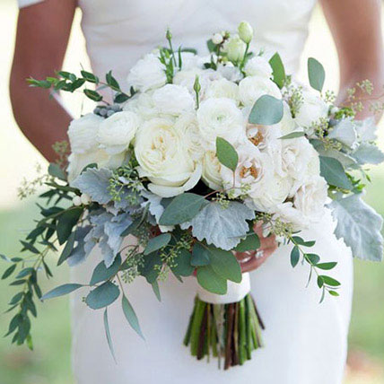 Alluring Bridal Bouquet: Exotic Flowers