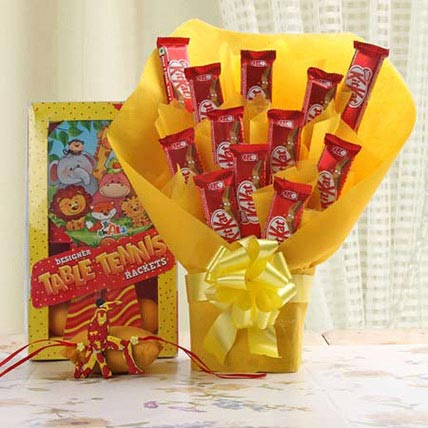 Dinosaur Rakhi Hamper: Cartoon Rakhi
