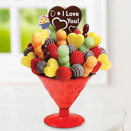 Fun Lovin tini with Belgian Chocolate Pop: Edible Arrangements