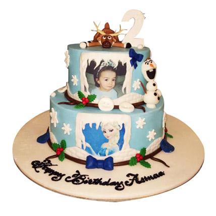 Elsa theme Cake: Frozen Cakes