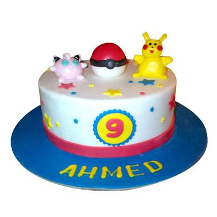 Jigglypuff N Pikachu cake: Pokemon Cakes