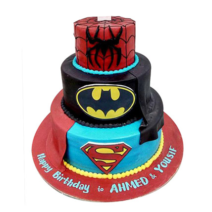 Heroes Combined Cake: Spiderman Cakes