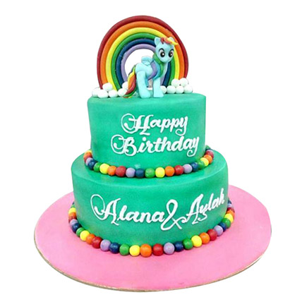 Pony N Rainbow Cake: My Little Pony Cakes