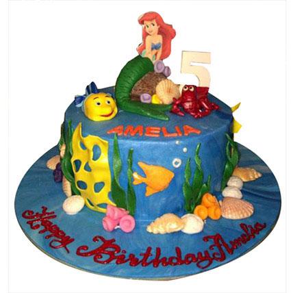 Ariel Mermaid Princess Cake: Princess Birthday Cake