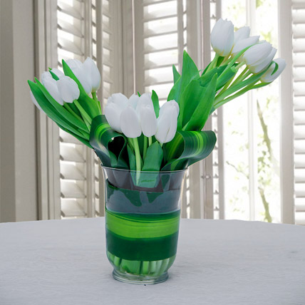 Green Couture: Tulips Bouquet
