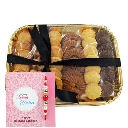 Pearl Rakhi N Cookies: Rakhi