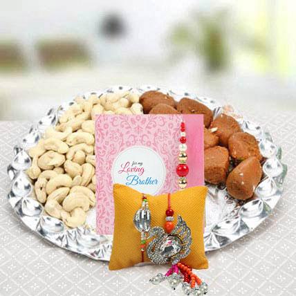 Set of Rakhi Lumba: Rakhi With Dryfruits