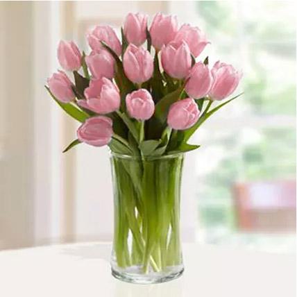 Pink Tulips Arrangement: Tulips Flowers