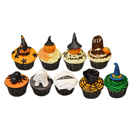 Halloween Assorted Cup Cakes: 3D Cakes