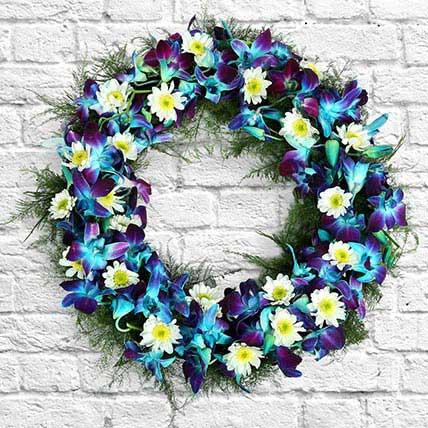 Orchids Wreath: Christmas Wreaths
