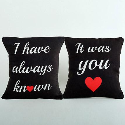 Black Couple Cushions: Personalised Cushions
