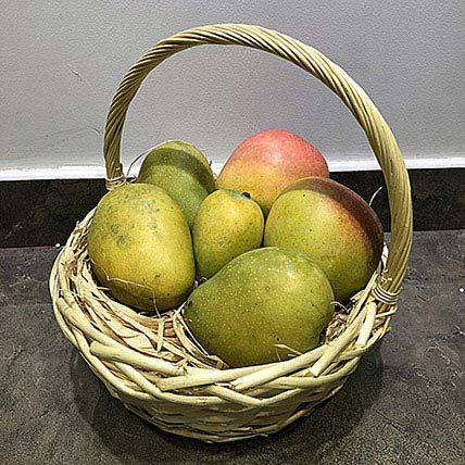 Mango Mix 4kg in a Basket: Fruit Baskets