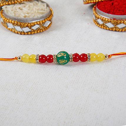 Gorgeous Beads Rakhi: Pearl Rakhi
