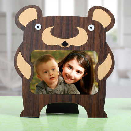 Bear Personalized Photo Frame: Birthday Gifts for Kids