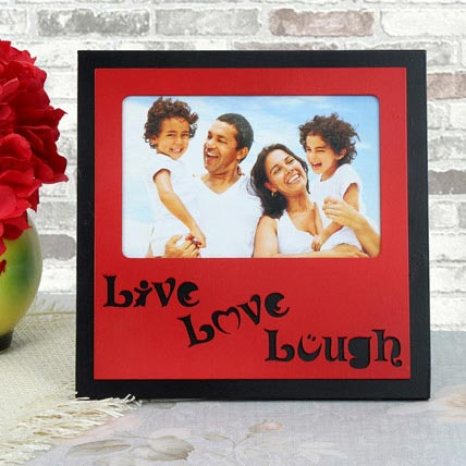 Personalized Live Love Lough Frame: Personalised Photo Frames
