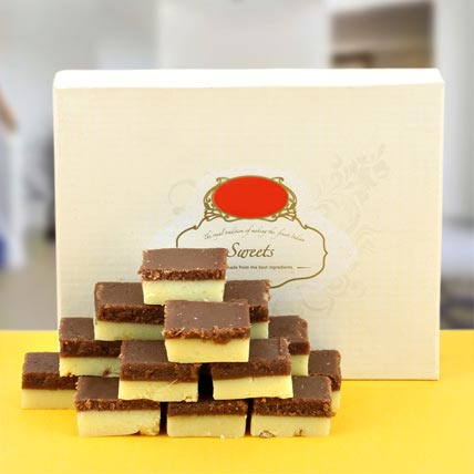 Enjoyable Chocolate Barfi: Anniversary Sweets