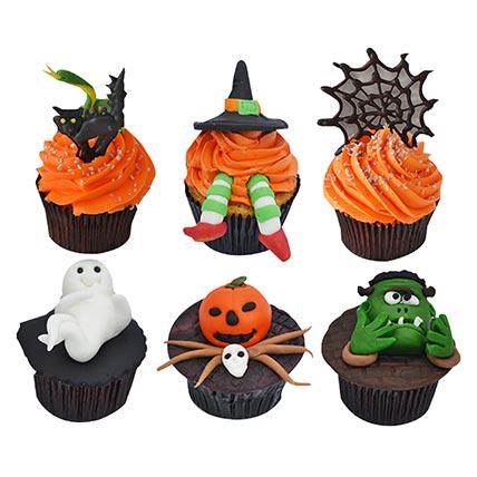 Set Of 6 Halloween Cupcakes: Halloween Cupcake Ideas