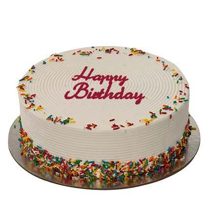 Rainbow Birthday Cake: