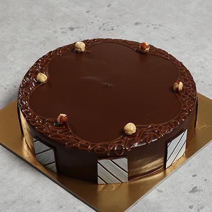 500gm Eggless Hazelnut Choco Cake: Eggless Cakes