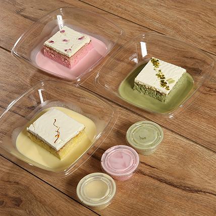 Set of 3 Flavored Milk Cake: Milk Cakes