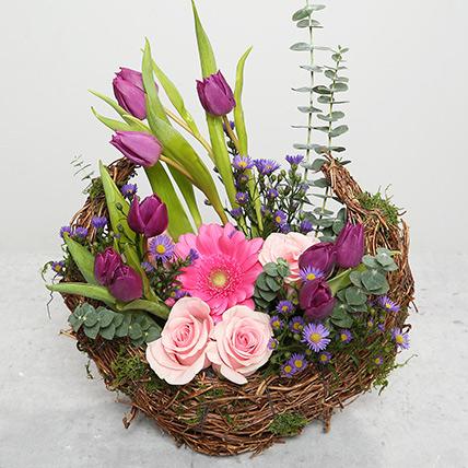 Tulips and Roses Flower Arrangement: Ramadan Flowers