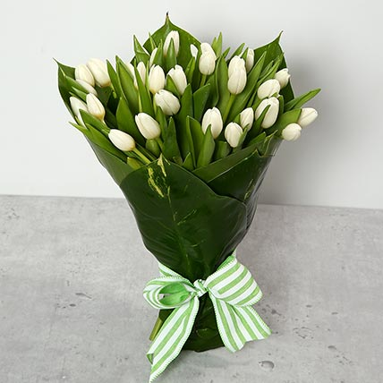 White Tulips Bouquet: Tulips Flowers