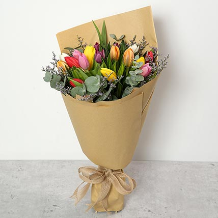 Beautiful Tulips Bouquet: Birthday Flower Bouquets