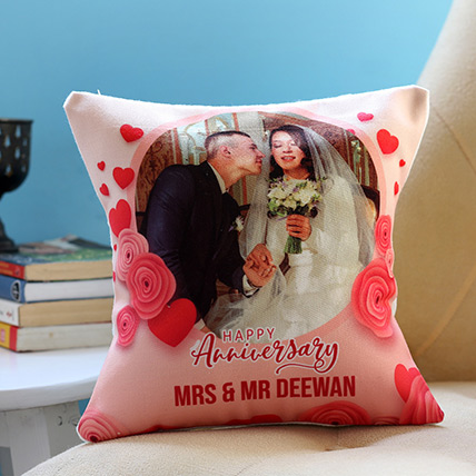 Personalised Anniversary Cushion: Personalised Gifts for Anniversary