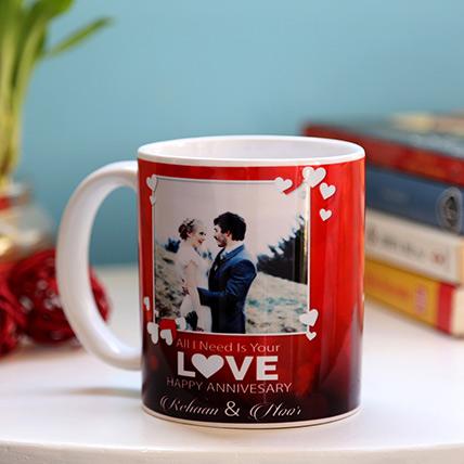 Personalised Anniversary Love Mug: Personalised Anniversary Mugs